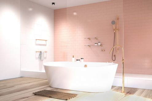 pink bathroom design idea