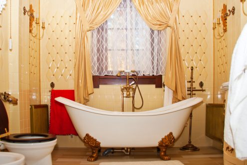 chic grandmother inspired bathroom